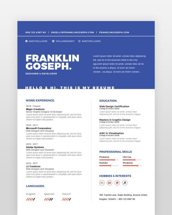Coder Resume Template - by printableresumes.com