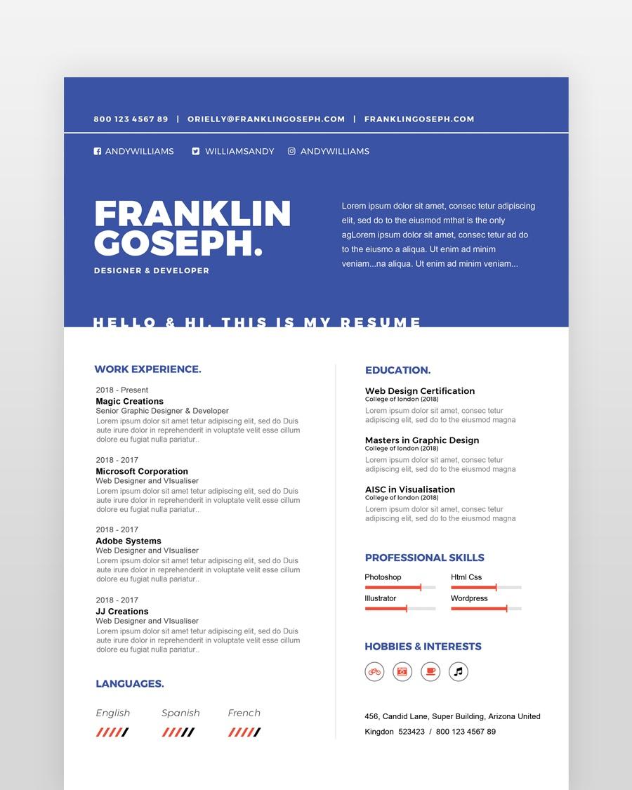 Coder Resume Template - by printableresumes.com