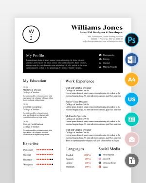Corporate-Minimal-Resume-Template - by printableresumes.com