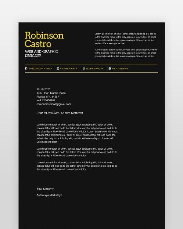 Dark-Black-Designer-Resume - by printableresumes.com