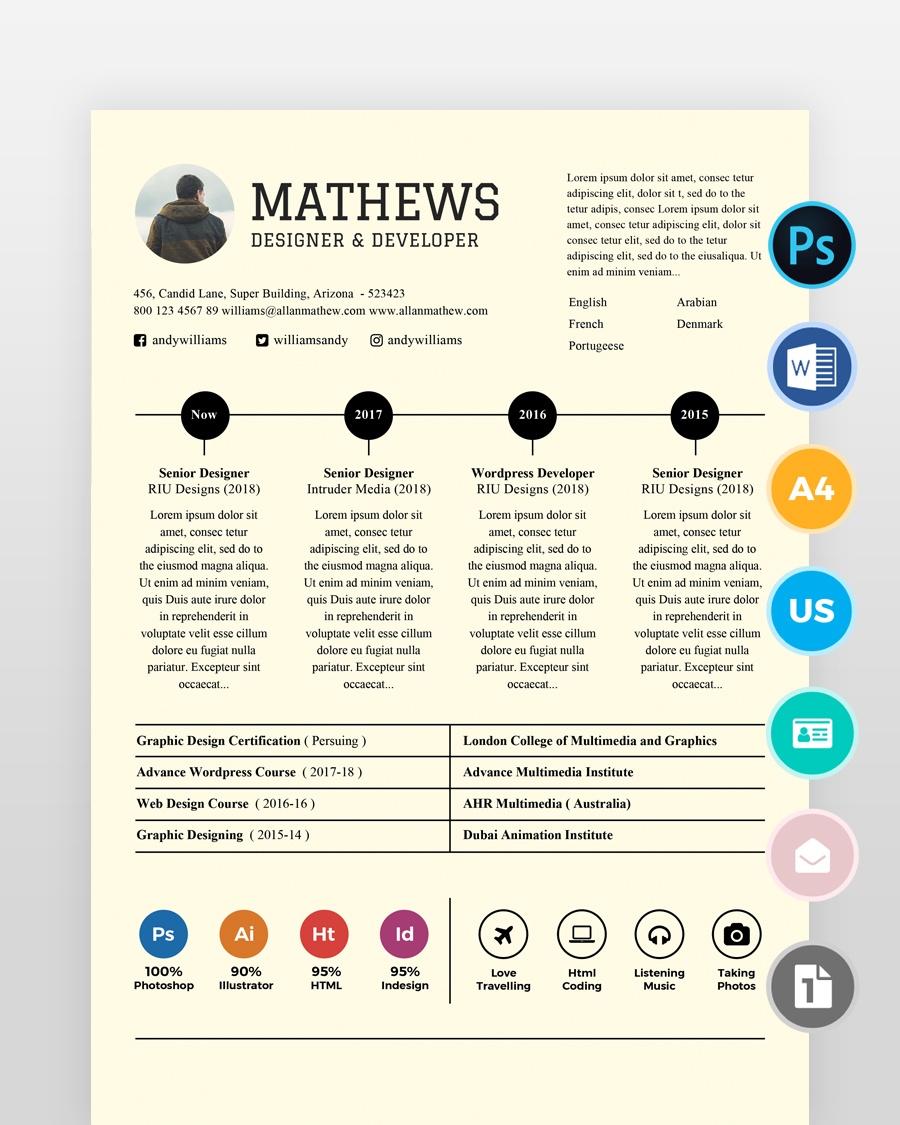 Experienced-Designer-Resume-Template - by printableresumes.com