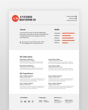 Professional Designer Resume - by printableresumes.com