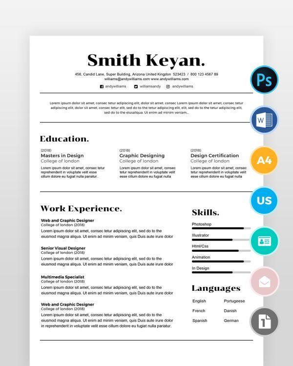 Minimal-Professional - by printableresumes.com