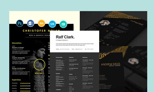 Most-Inspiring-Black-Color-Resume-Templates