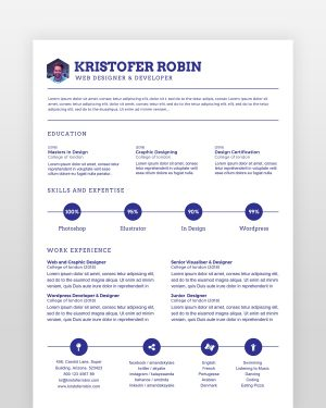Minimal Resume Single Page - by printableresumes.com
