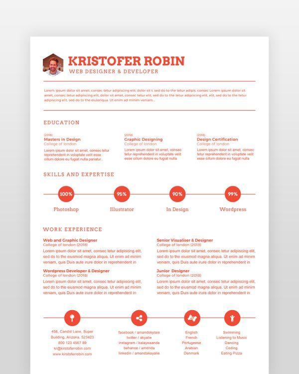 Orange-Blue-Minimal-Resume2 - by printableresumes.com