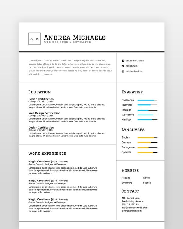 Professional Resume Template - by printableresumes.com