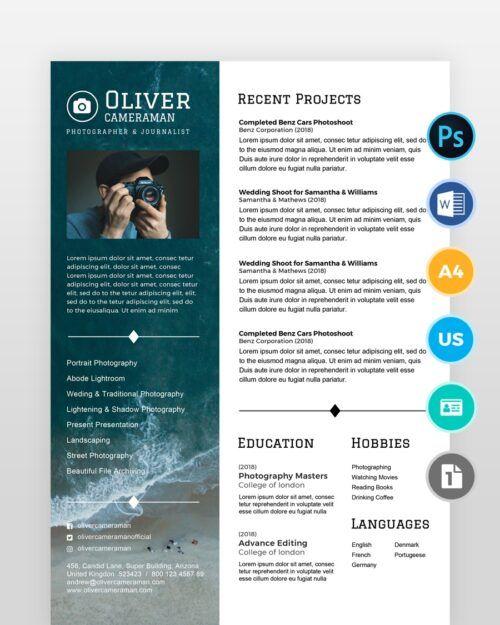 Professional-Photographer-Resume - by printableresumes.com