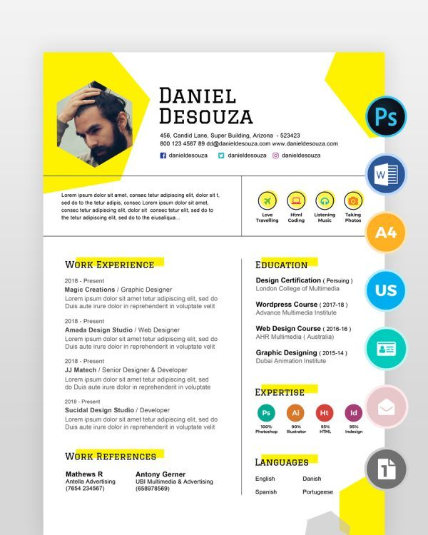 Simple-Designer-Resume-Template2 - by printableresumes.com