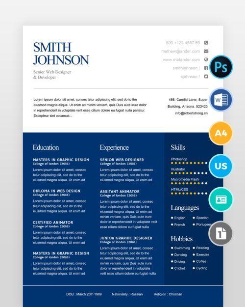 Simple-Resume-Template2 - by printableresumes.com