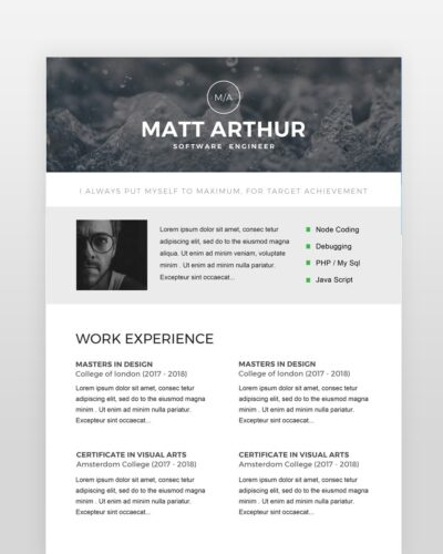 Software Engineer Resume - by printableresumes.com