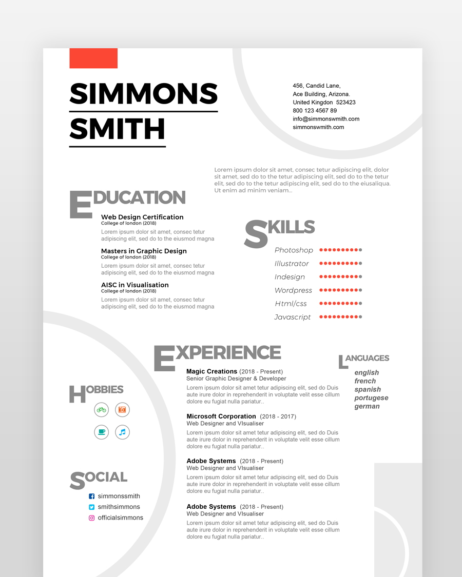 Web Developer Resume - by printableresumes.com