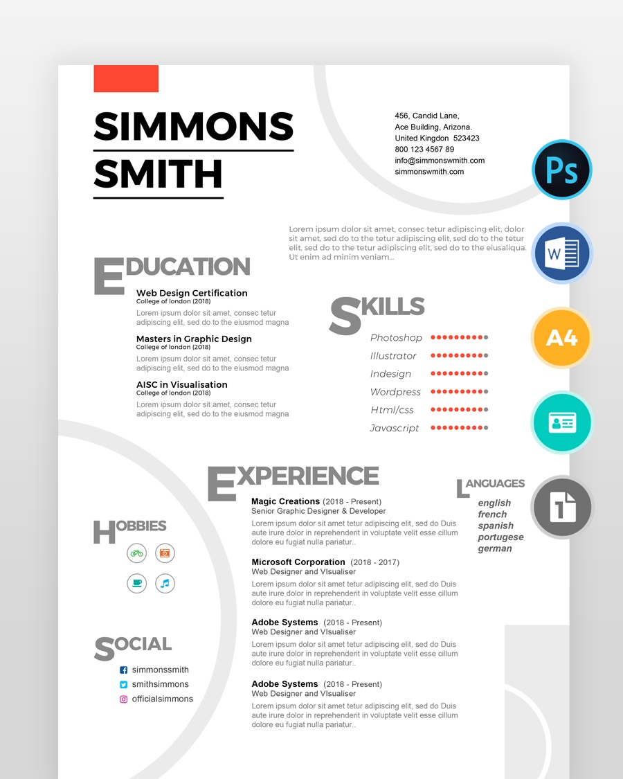 Simple-White-Web-Designers-Resume2 - by printableresumes.com
