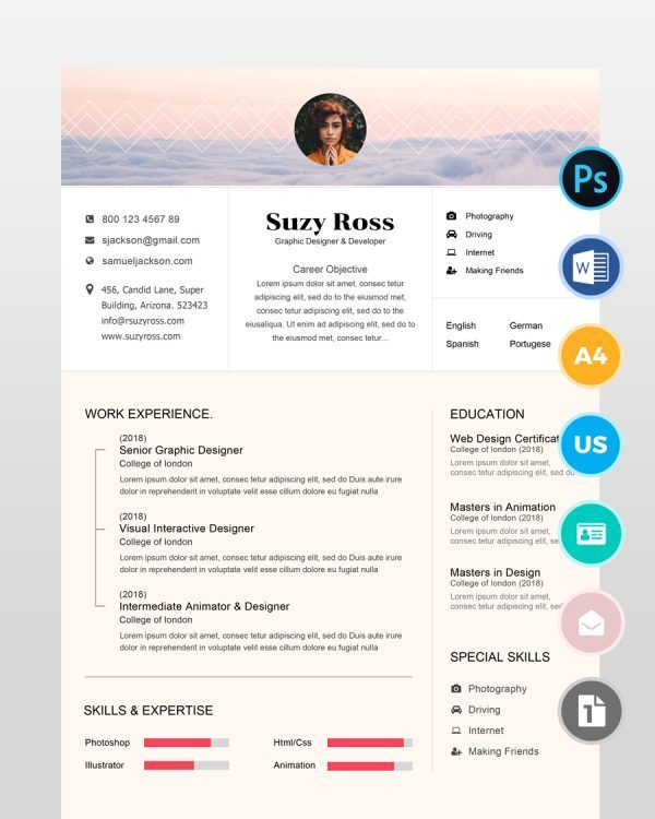 Teacher-Blogger-Resume-Template2 - by printableresumes.com