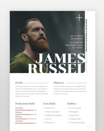 Creative Designer Resume Template (2 Pages) - by printableresumes.com
