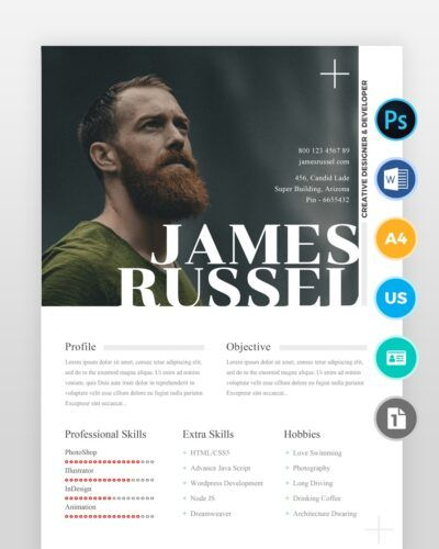 Two-Page-Creative-Designer-Resume-Template - by printableresumes.com