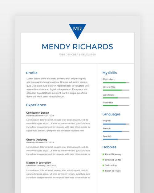 Stylish Designer Resume - by printableresumes.com