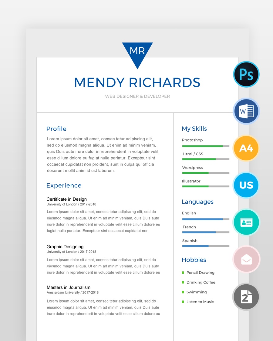 Two-Page-Designer-Resume-Template - by printableresumes.com