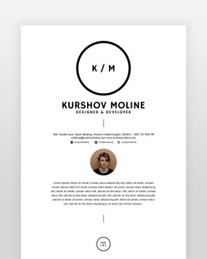 Two Page Designer Resume - by printableresumes.com