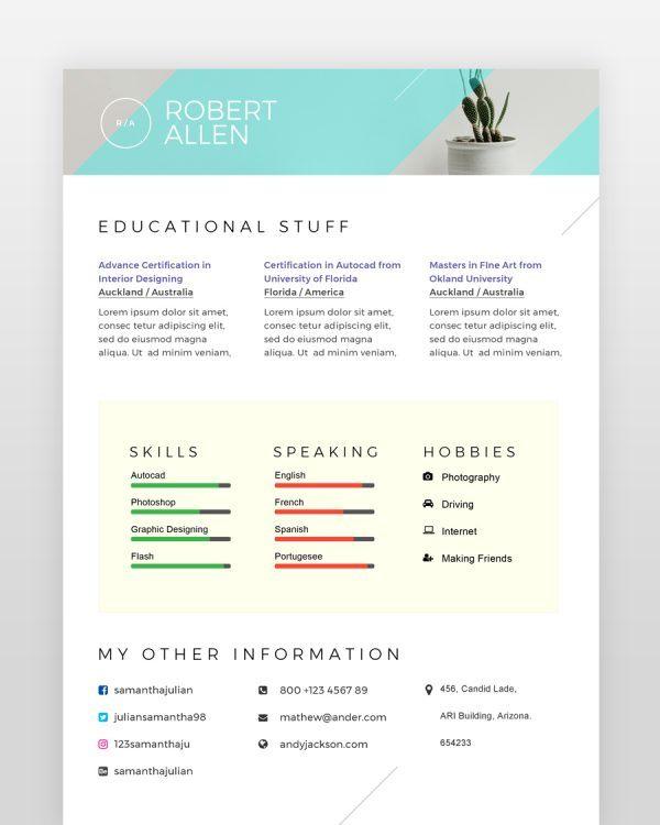 Two-Page-Designer-Resume2 - by printableresumes.com