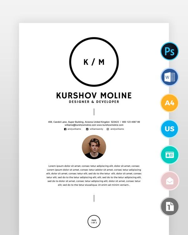 Two-Page-Designer-Resume_over - by printableresumes.com