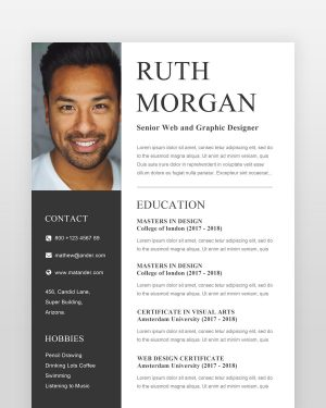 Designer Resume (2 Pages) - by printableresumes.com