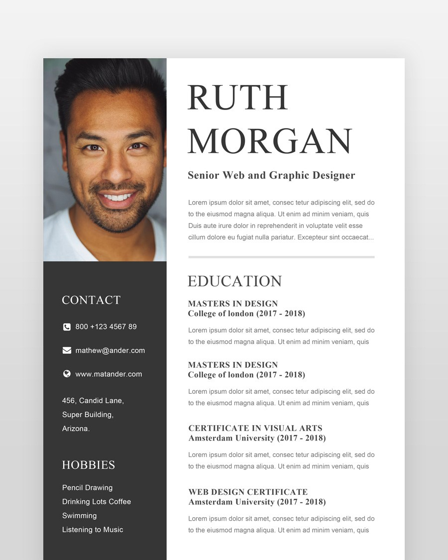 Designer Resume Template - by printableresumes.com