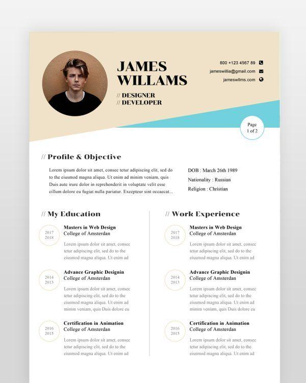 Web Designer Resume Template - by printableresumes.com