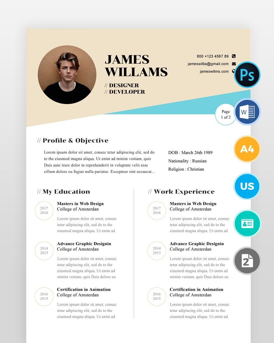 Web-Designer-Resume-Template - by printableresumes.com