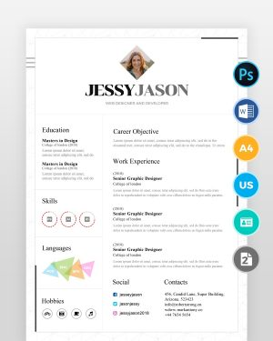 White-Minimal-Designer-Resume-Template2 - by printableresumes.com