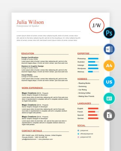 Writer-and-Multipurpose-Resume-Template2 - by printableresumes.com