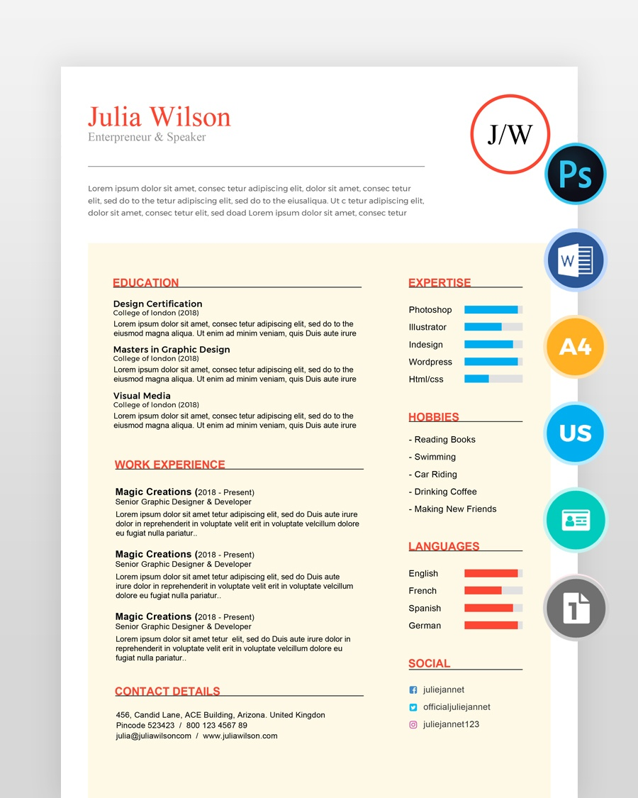 Writer-and-Multipurpose-Resume-Template2 - by printableresumes.com