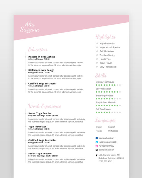 Yoga-Teacher-Resume-Template_2 - by printableresumes.com